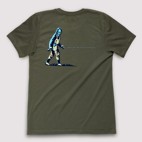 Western Canadian Rivers - T-Shirt / Steel Blue