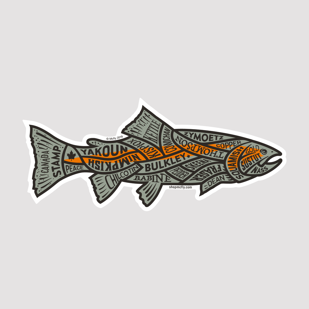 Western Canadian Rivers Steelhead - Sticker