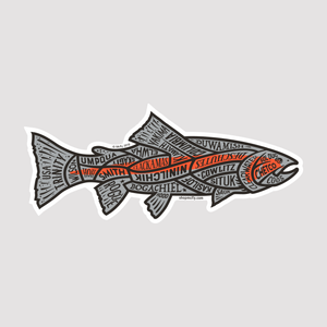 Western US Rivers Steelhead - Sticker