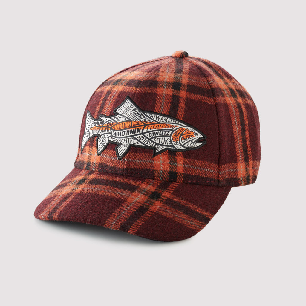 US Western Steelhead Rivers- Plaid Snapback Hat