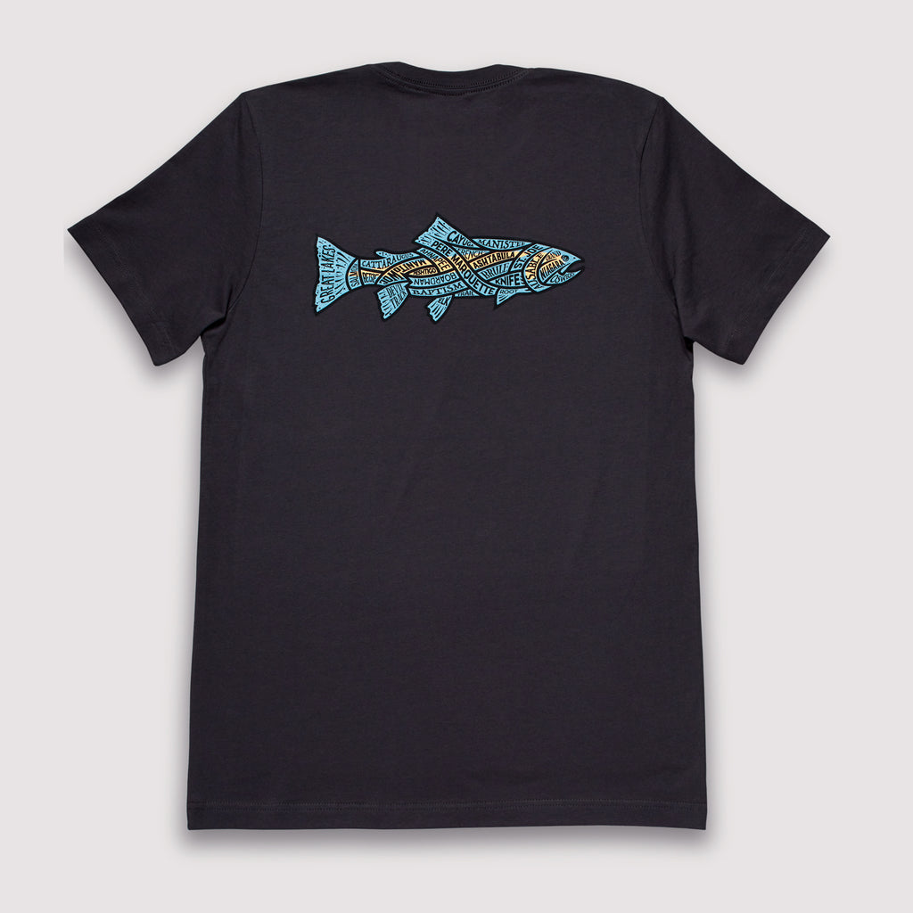 Great Lakes Steelhead - T-Shirt / Black Pumice
