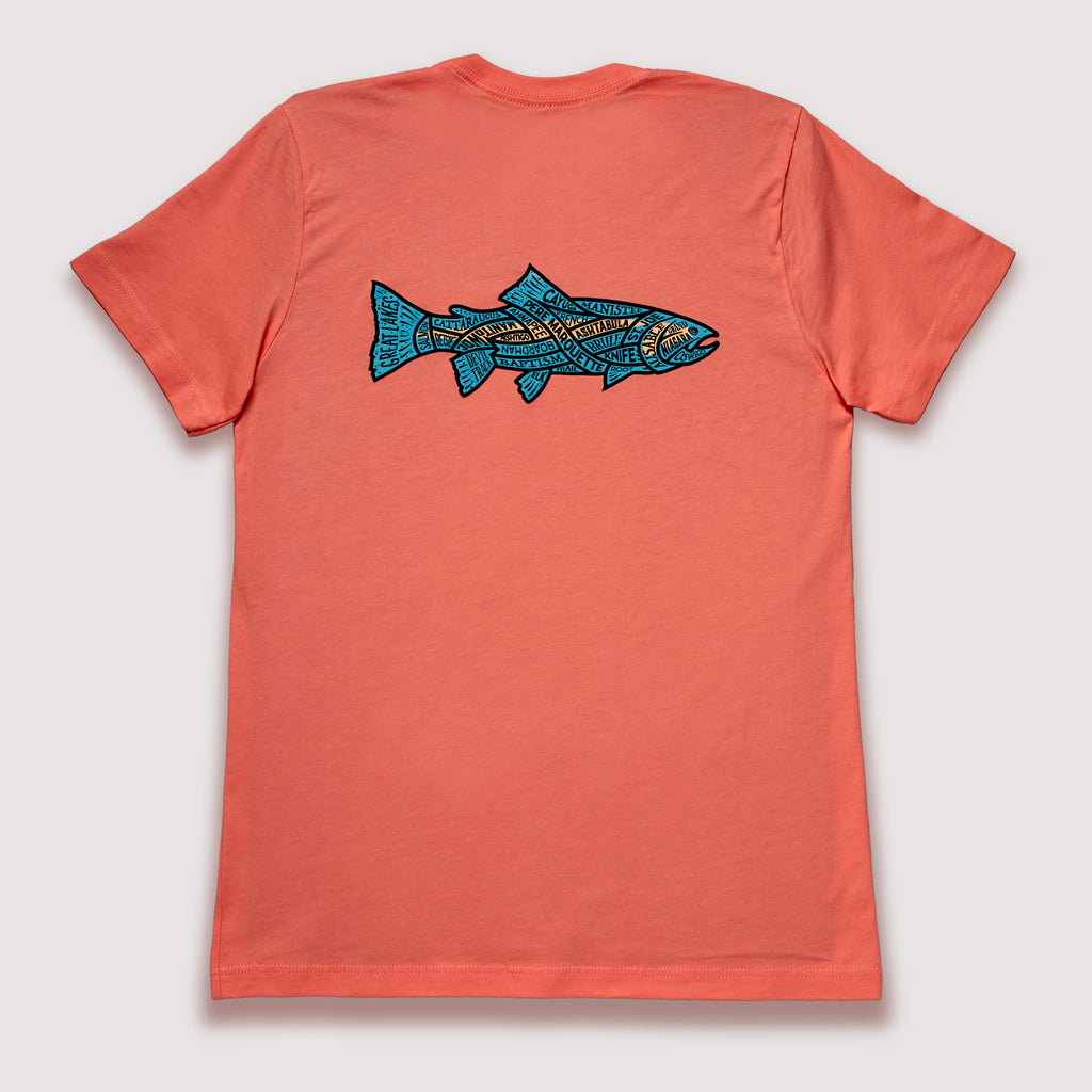 Great Lakes Steelhead - T-Shirt / Salmon