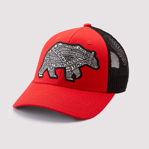 Western Canadian Rivers Bear Hat - Snapback Soft Mesh