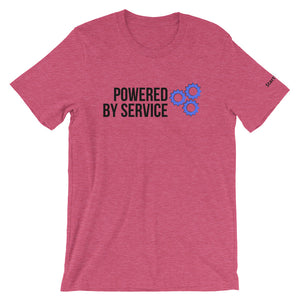 Powered by Service - Short-Sleeve Men's T-Shirt
