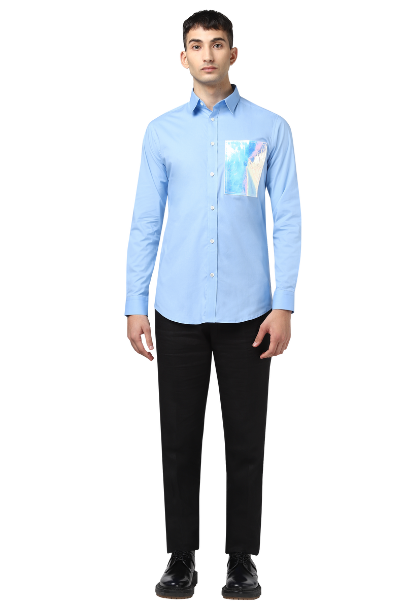 Html + Shirt with holographic patch