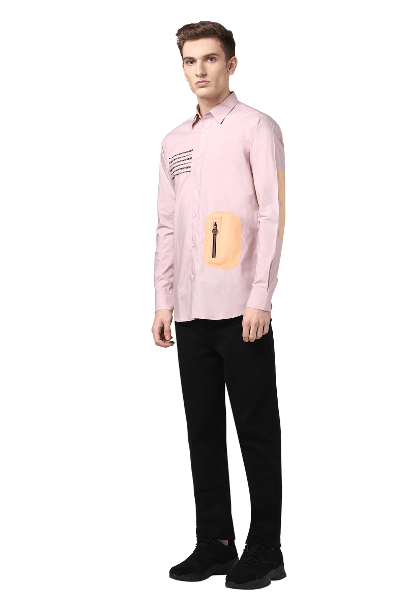 Binary Shirt With Utility Pocket & Elbow Patch - NOONOO
