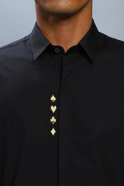 The Casino Shirt in Gold Steal Deal - NOONOO