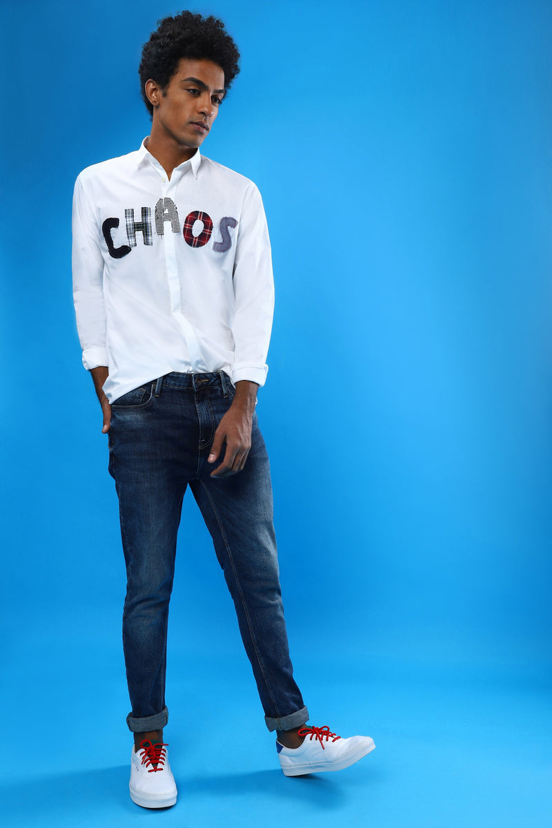 The Chaotic Appliqué Shirt - NOONOO