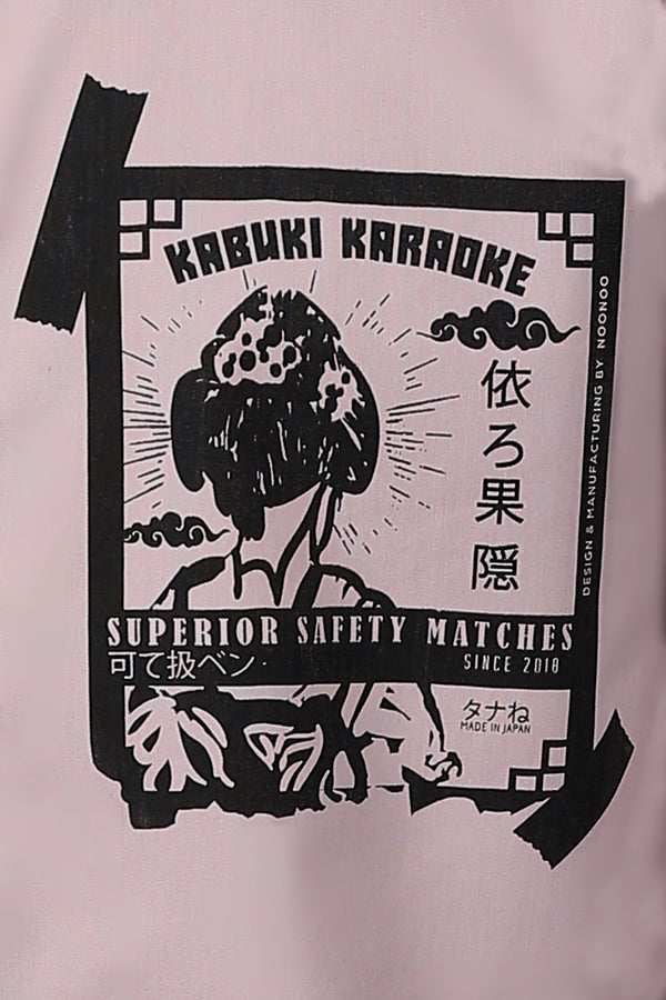 The Kabuki Karaoke Shirt In Dirty Rose - NOONOO