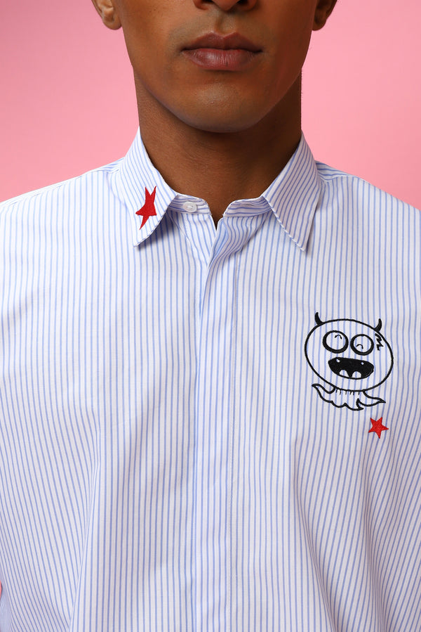 The Little Devil Striped Shirt - NOONOO