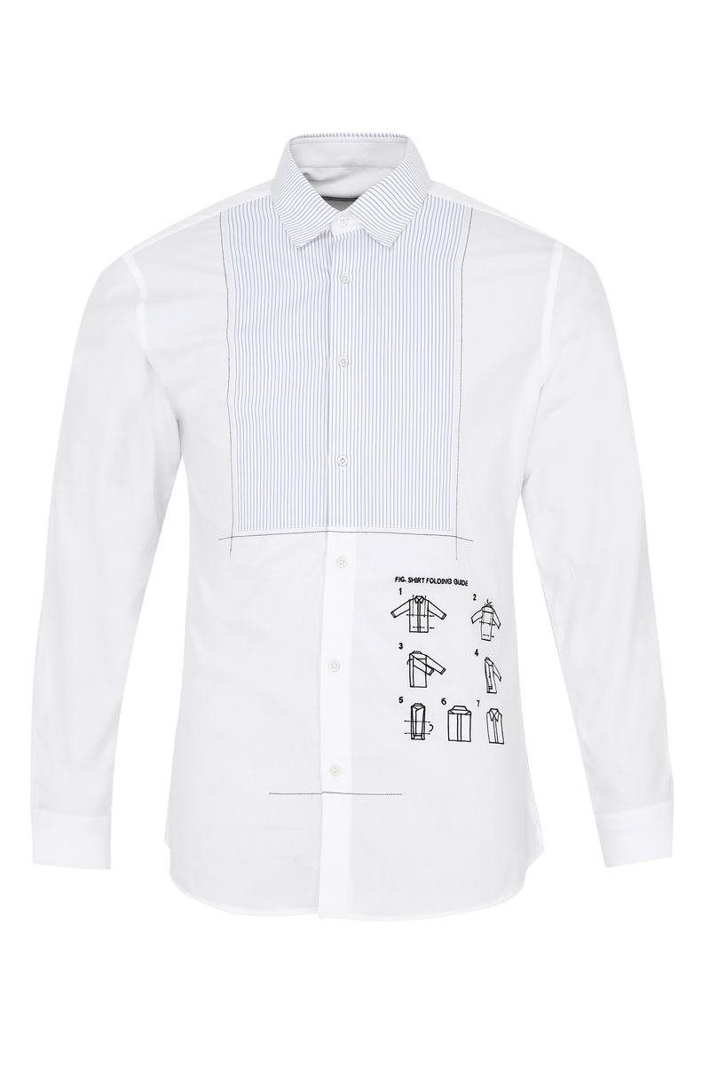 The Manual Shirt With Tux Detail - NOONOO