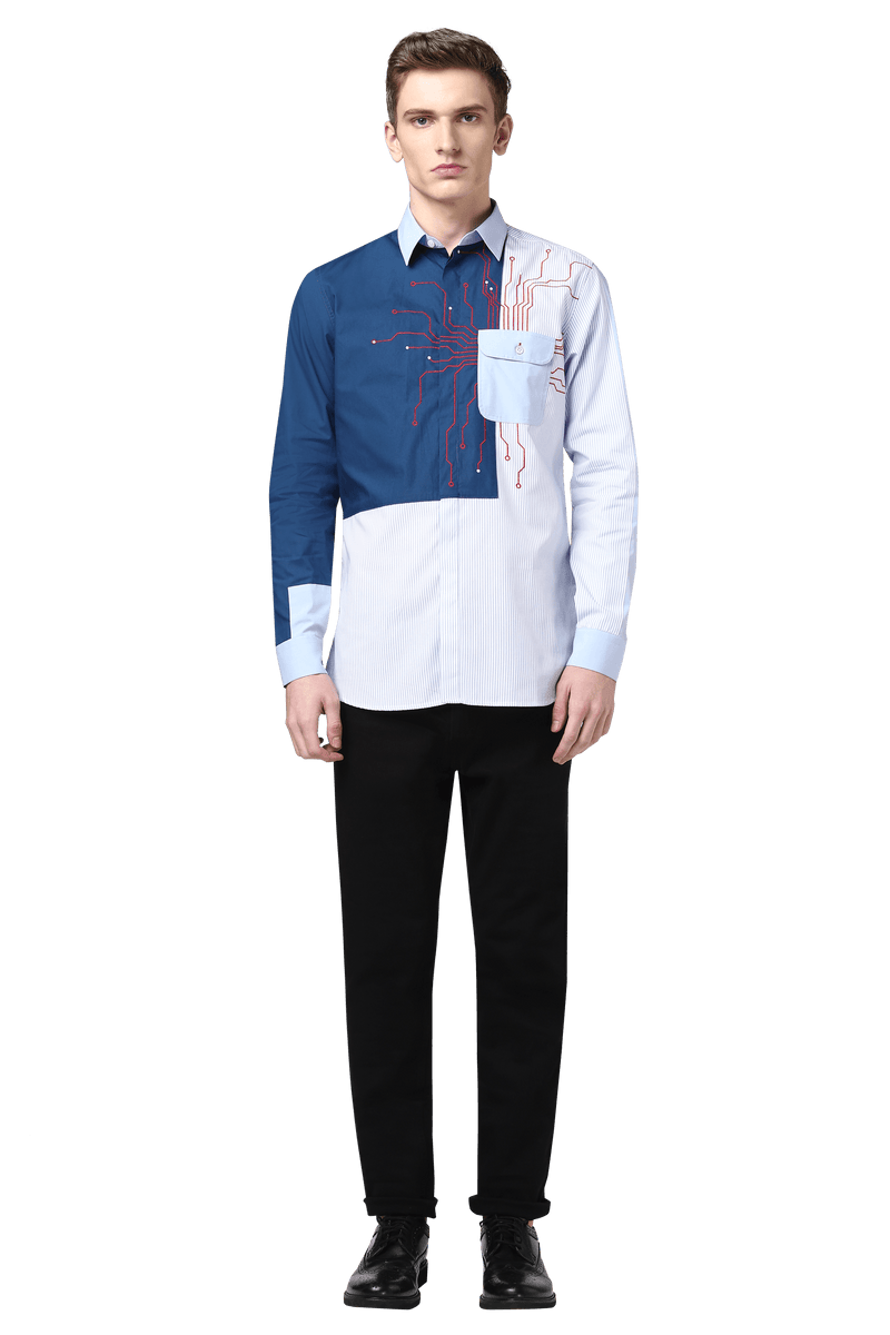 The Motherboard Color Blocked Shirt - NOONOO