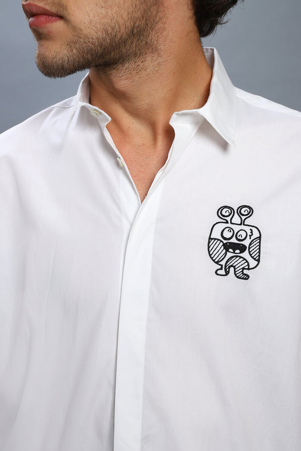 The Peeping Monster Shirt Crest - NOONOO