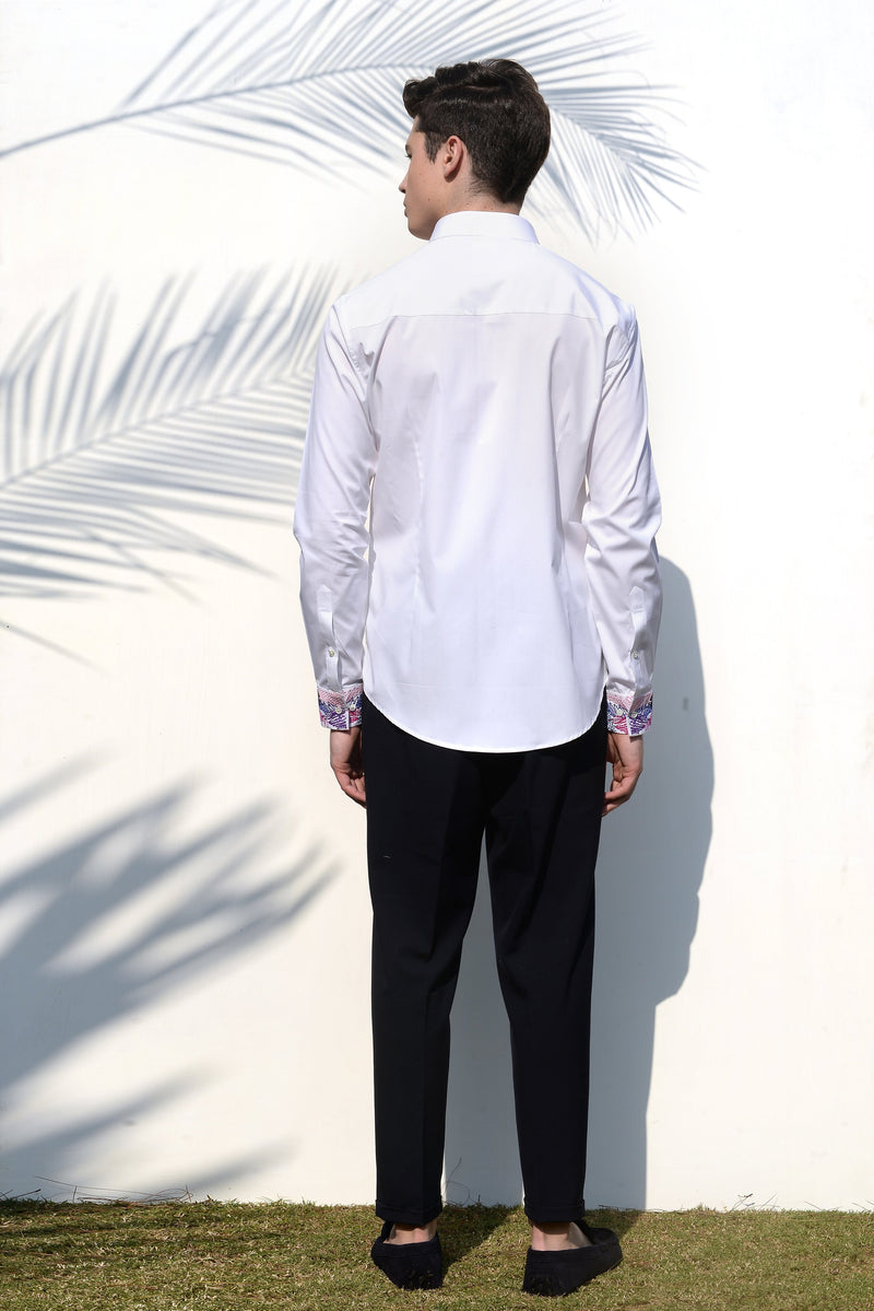 The Scribbled Cuff Shirt - NOONOO