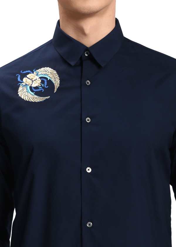 The Shoulder Sequin Scarab Shirt - NOONOO