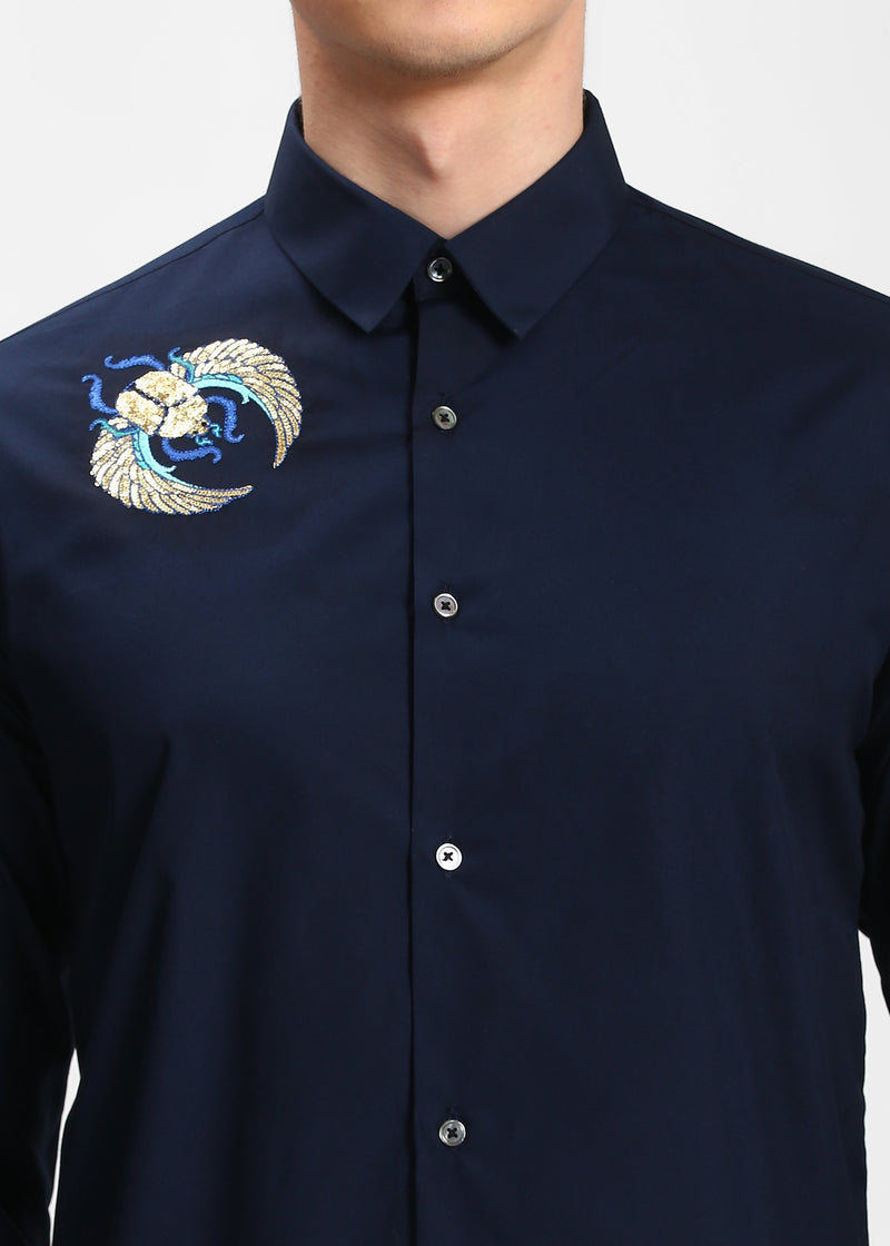 The Shoulder Sequin Scarab Shirt Steal Deal - NOONOO