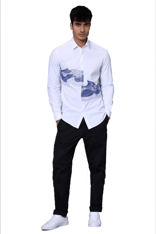 The Wave Off White Shirt - NOONOO