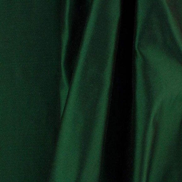 Solid Hunter Green Taffeta Fabric - Fashion Fabrics Los Angeles