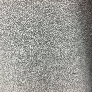 Gray Solid Anti Pill Polar Fleece Fabric - Fashion Fabrics Los Angeles