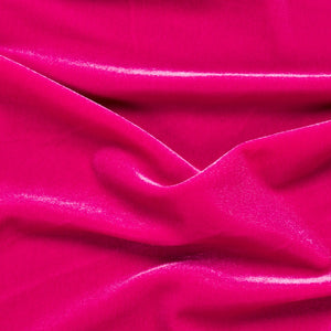 Fuchsia Stretch Velvet Apparel Spandex Fabric - Fashion Fabrics Los Angeles