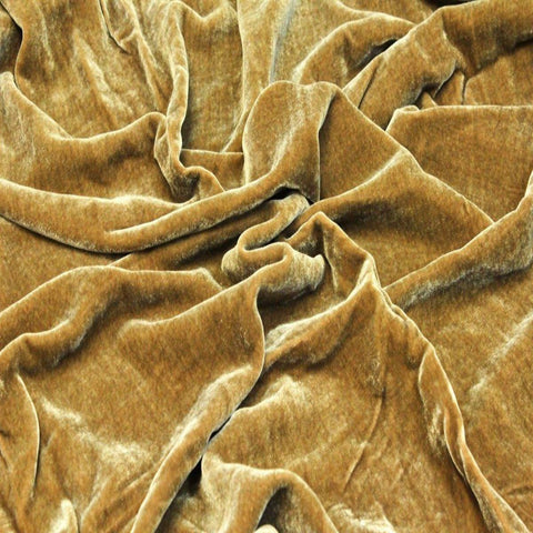 Cognac Silk Velvet Fabric - Fashion Fabrics Los Angeles