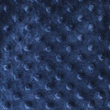 Navy Minky Dimple Dot Fabric - Fashion Fabrics Los Angeles