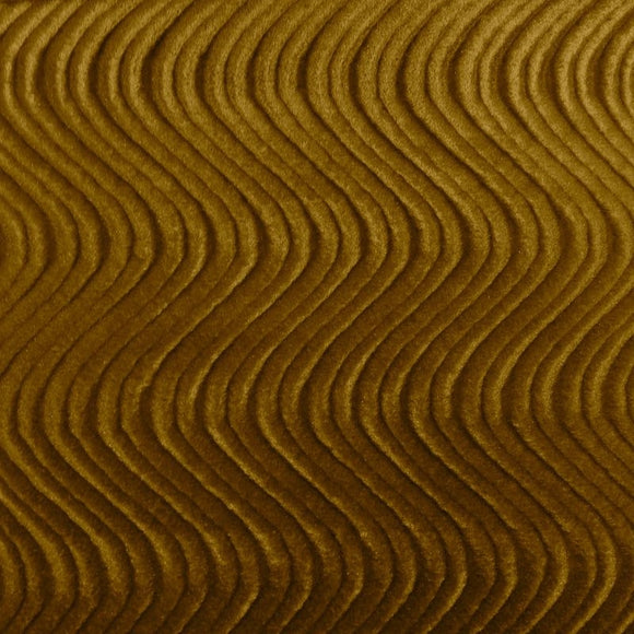 Taupe Swirl Velvet Flocking Fabric