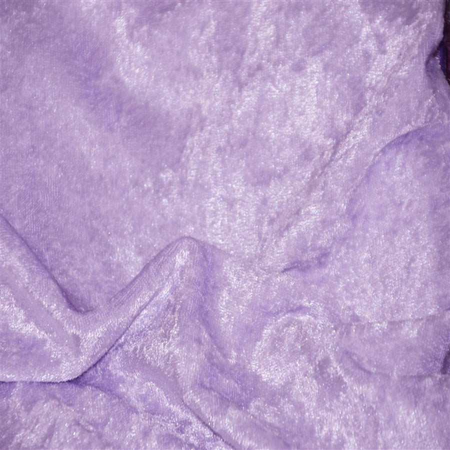 Lavender Panne Crush Stretch Velvet Fabric - Fashion Fabrics Los Angeles