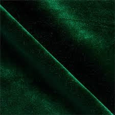 Hunter Green Velvet Flocking Fabric - Fashion Fabrics Los Angeles