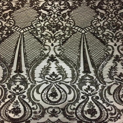 Black Chantal Deluxe Sequins Lace Fabric