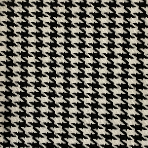 White Black Acrylic Houndstooth Fabric - Fashion Fabrics Los Angeles