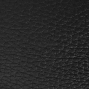 Black Textured PVC Leather Vinyl Fabric