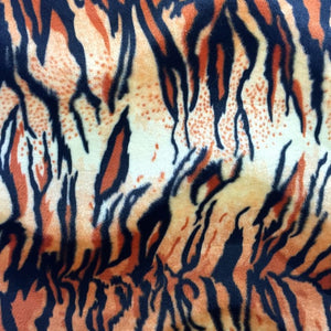 Orange Tiger Velboa Faux Fur