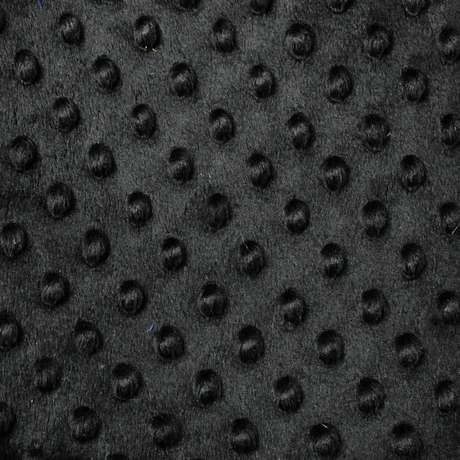 Black Minky Dimple Dot Fabric - Fashion Fabrics Los Angeles