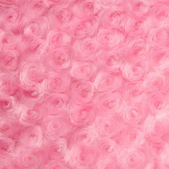 Pink Swirl Rose Bud Fabric - Fashion Fabrics Los Angeles