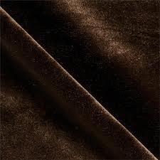 Brown Stretch Velvet Spandex Fabric - Fashion Fabrics Los Angeles