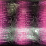 Lilac Purple Two Tone Embossed Crocodile Vinyl Fabric - Fashion Fabrics Los Angeles