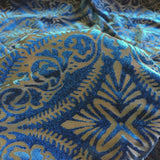 Blue Lili Burnout Stretch Velvet Spandex Fabric - Fashion Fabrics Los Angeles