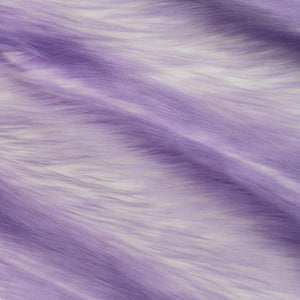 Lavender | White Luxury Faux Fur Shag Fabric - Fashion Fabrics Los Angeles