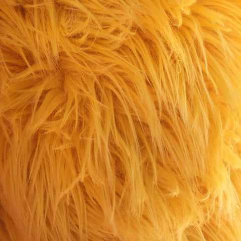 Canary Yellow Luxury Long Pile Shaggy Faux Fur Fabric - Fashion Fabrics Los Angeles