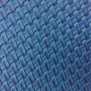 Blue Basket Weave Vinyl - Fashion Fabrics Los Angeles