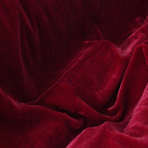 Dark Red Silk Velvet Fabric - Fashion Fabrics Los Angeles
