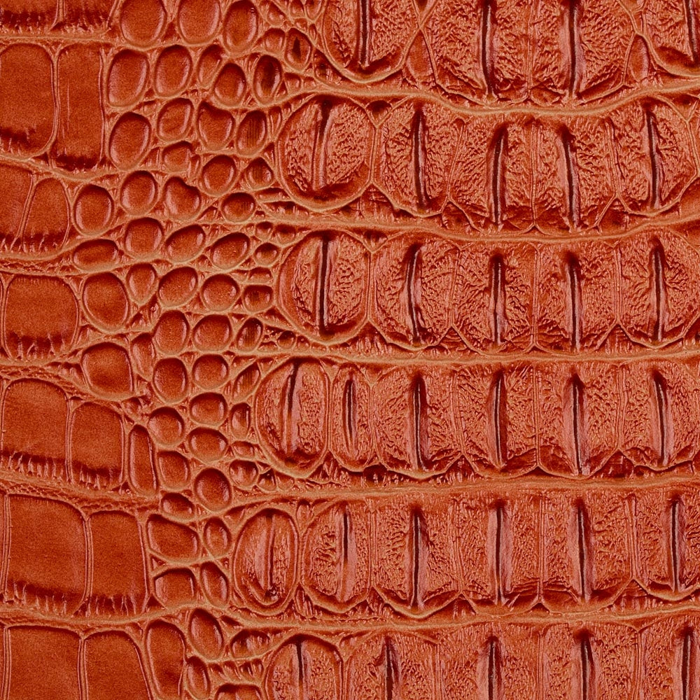Orange Metallic Gator Vinyl Fabric