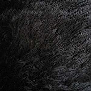 Black Luxury Long Pile Shaggy Faux Fur Fabric