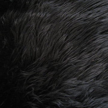 Black Luxury Long Pile Shaggy Faux Fur Fabric - Fashion Fabrics Los Angeles