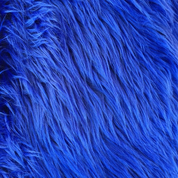 Royal Blue Luxury Long Pile Shaggy Faux Fur Fabric - Fashion Fabrics Los Angeles