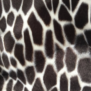 Brown Giraffe Velboa Faux Fur - Fashion Fabrics Los Angeles