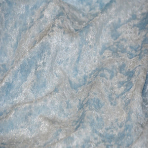 Baby Blue Panne Crush Stretch Velvet Fabric - Fashion Fabrics Los Angeles