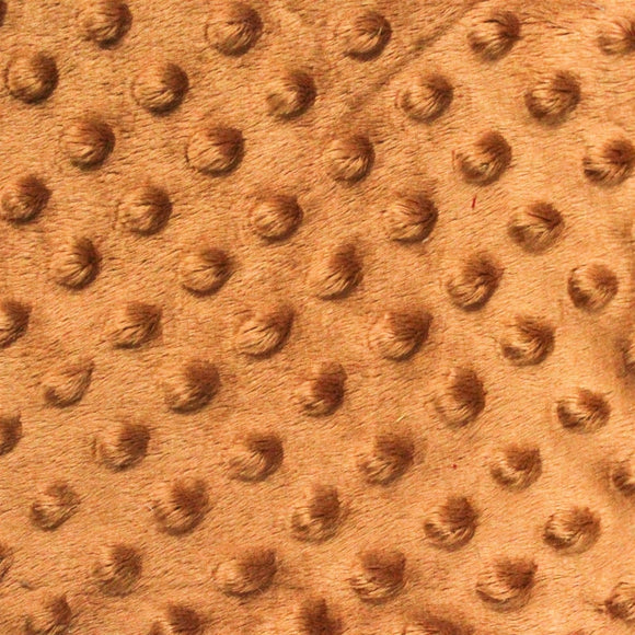 Copper Minky Dimple Dot Fabric - Fashion Fabrics Los Angeles