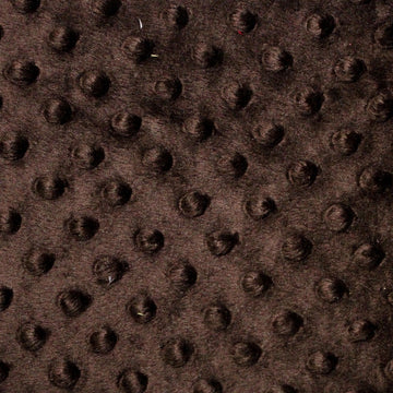 Dark Brown Minky Dimple Dot Fabric - Fashion Fabrics Los Angeles